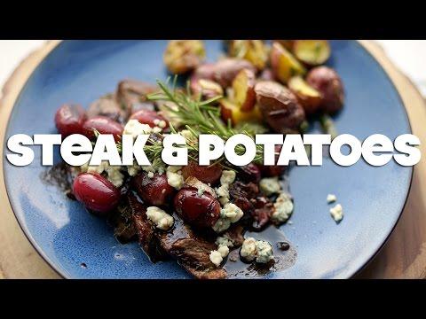 Herb Garlic Crusted Steak & Roasted Potatoes