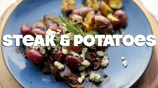 Herb Garlic Crusted Steak & Roasted Potatoes