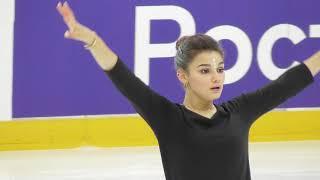 Софья Самодурова КП Контрольные прокаты 2020 2021 Sofia Samodurova SP Open Skates