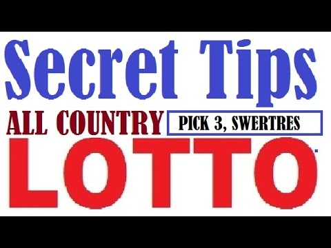 How to win Lottery - Pick 3,Swertres and 3 Digits Lotto Secret Tips to Hit  Straight 100% Everytime