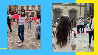 La protesta degli Infermieri in Piazza Duomo a Firenze