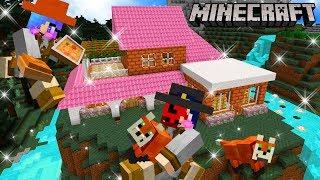 Minecraft สร้างบ้านพักตากอากาศริมน้ำตกกับสุนัขจิ้งจอกสุดน่ารัก