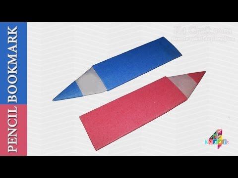 "DIY: Simple Origami ""Pencil"" Bookmark -Paper Art & Carft"