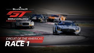 RACE 1 - COTA - Blancpain GT World Challenge America - LIVE