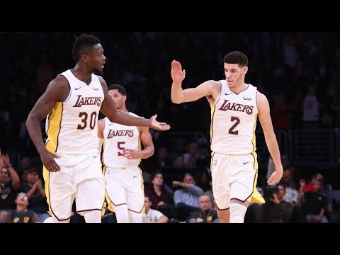 Lonzo Ball 2nd Career Triple Double! 11 Pts 16 Rebs 11 Asts! Nuggets vs Lakers