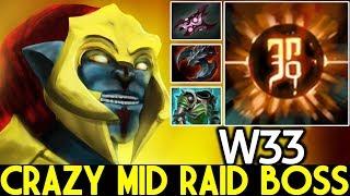 W33 [Huskar] Crazy Mid Raid Boss Totally Destroyed 7.23 Dota 2
