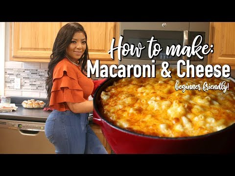Easy baked macaroni and cheese with velveeta