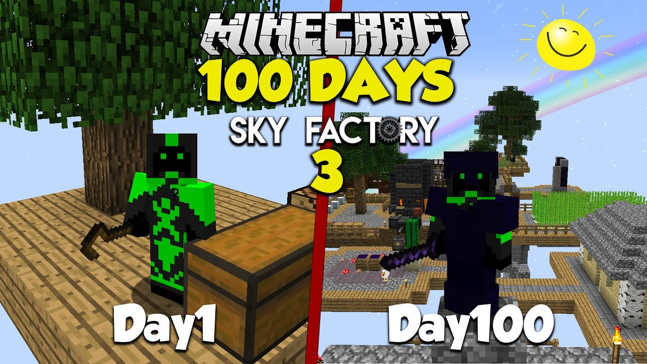 I Survived 100 Days In Modded Minecraft, Sky factory 3
