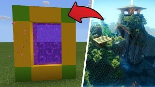 How To Make a Portal to the Shaders Dimension in MCPE (Minecraft PE)