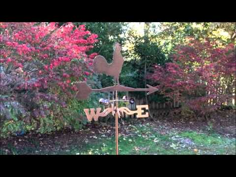 Steel Weathervane With Hammered Copper Appearance