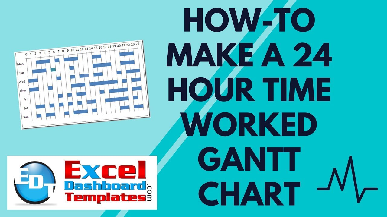 How to make  hour time worked gantt chart in excel dashboard templates also youtube rh