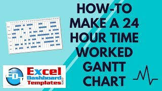 How-to make a 24 Hour Time Worked Gantt Chart in Excel