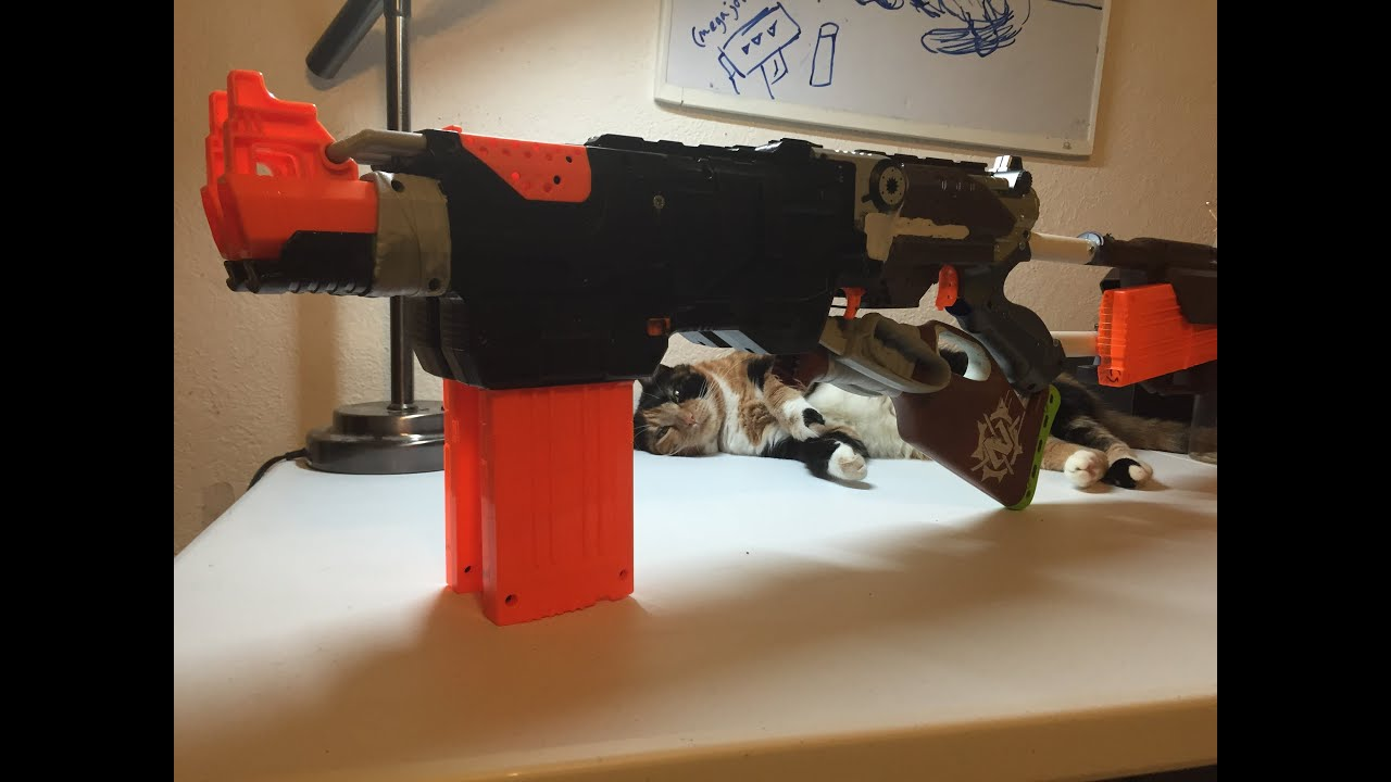 The Slingwinrar Double Nerf Slingfire Lever action Shotgun Mod
