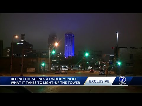 What it takes to light-up WoodmenLife Tower