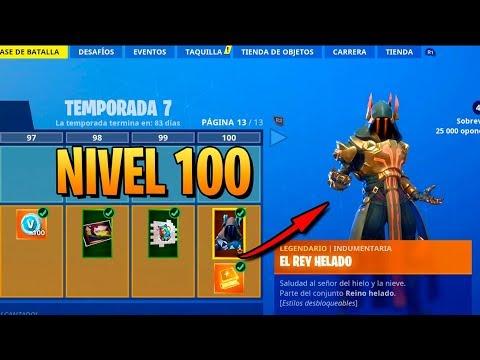 **TEMPORADA 7** SKIN NIVEL 100! TODO COMPRADO! FORTNITE: Battle Royale (Pase de Batalla)