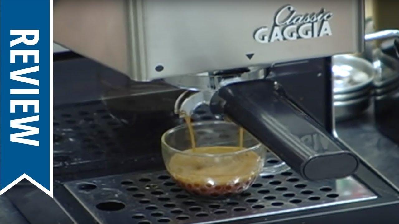 Gaggia Classic Espresso Machine Overview Youtube