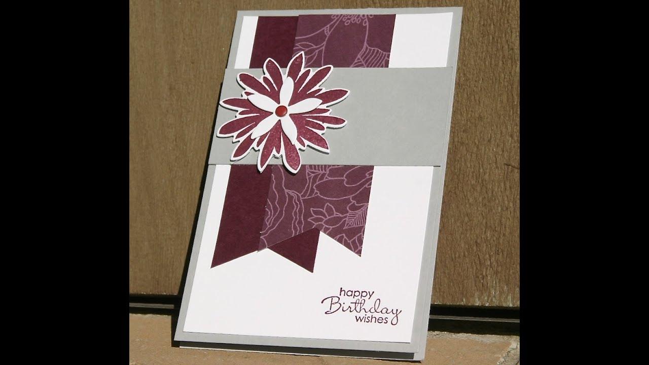 stampin' up birthday card using flower patch, Birthday card