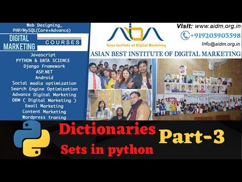 python-sets-and-dictionaries-|-python-sets-&-dictionary-part-3-|-python-basics-for-beginners-|-aidm