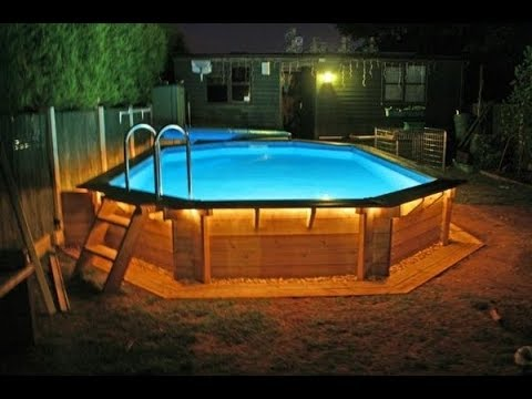 Deck around above ground pool youtube for Above ground pool decks video