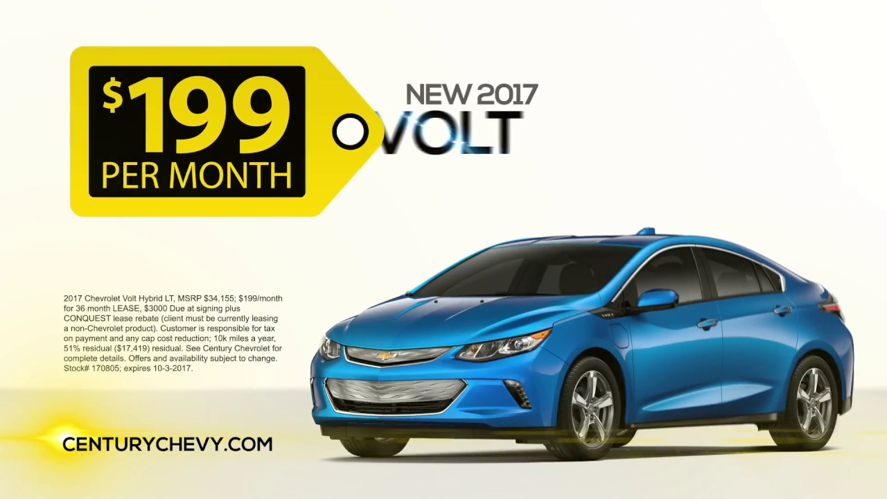 Chevy volt november lease deals