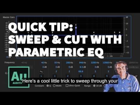 Quick Tip: Adobe Audition Parametric EQ. Sweeping & Cutting Technique