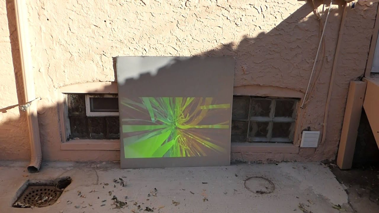 new screen paint outside daytime test with 2000 lumens