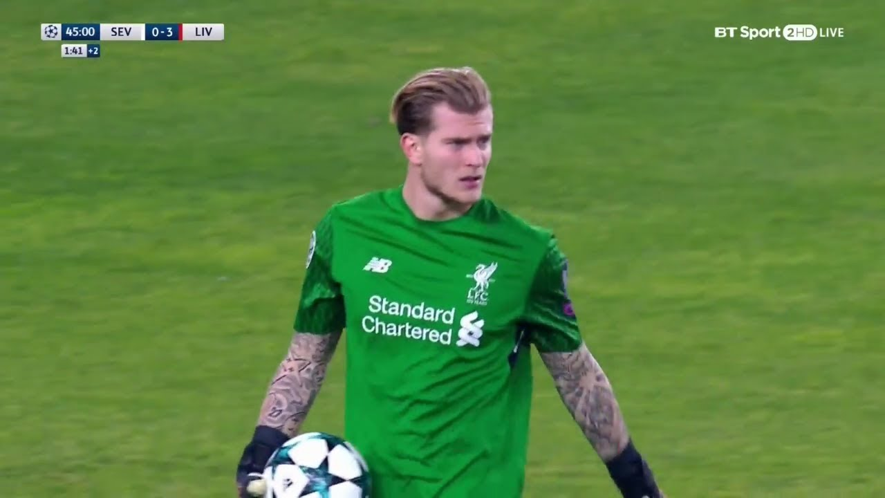 Loris karius vs sevilla a 17 18 youtube for Loris karius freundin