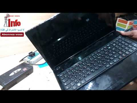 Lenovo G580, G585 disassembly and change power connector and repair hinge