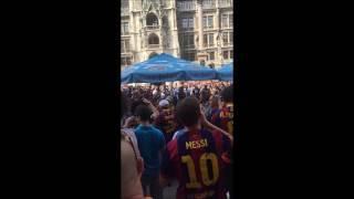 FC BARCELONA Fans in Munich--Best Team Best Fans--2015 CL among Barca Fans