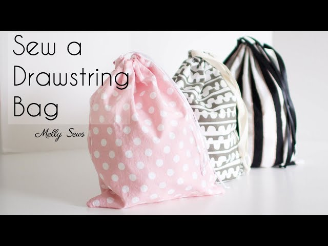 Learn to Sew a Drawstring Bag - Beginner Sewing Project