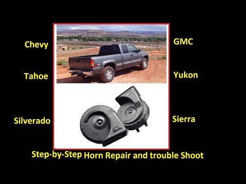 fix your horn the easy way! chevy/gmc silverado, sierra, suburban, yukon -  youtube