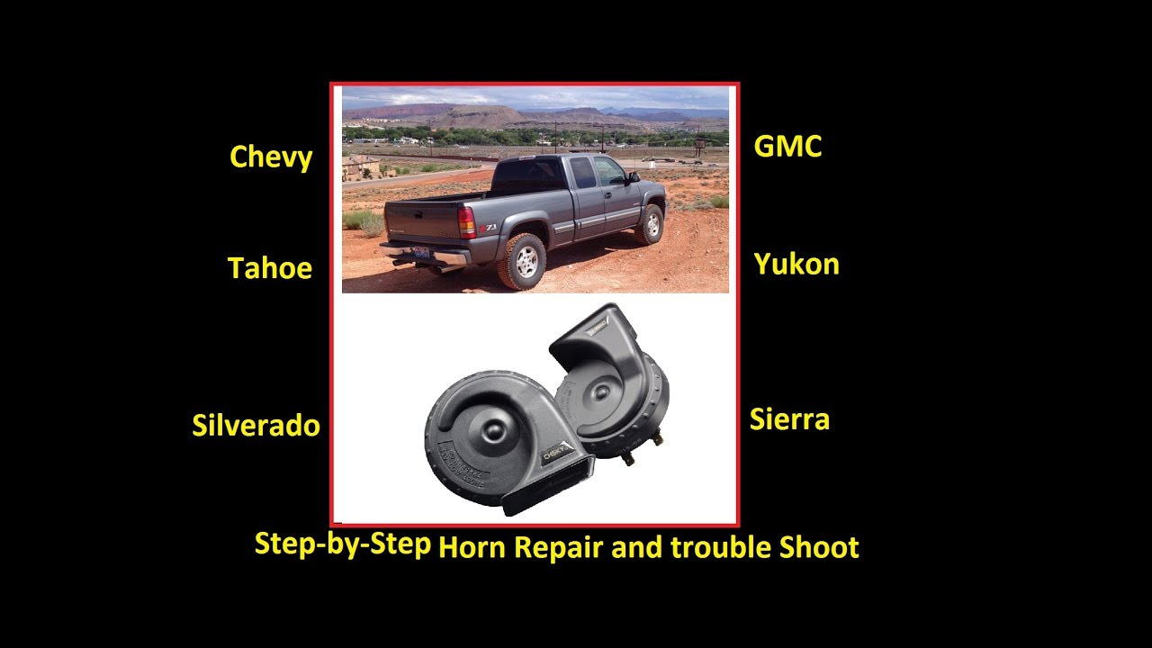 Fix Your Horn The Easy Way Chevy Gmc Silverado Sierra Suburban 1987 Chevrolet C10 Wiring Diagram Yukon