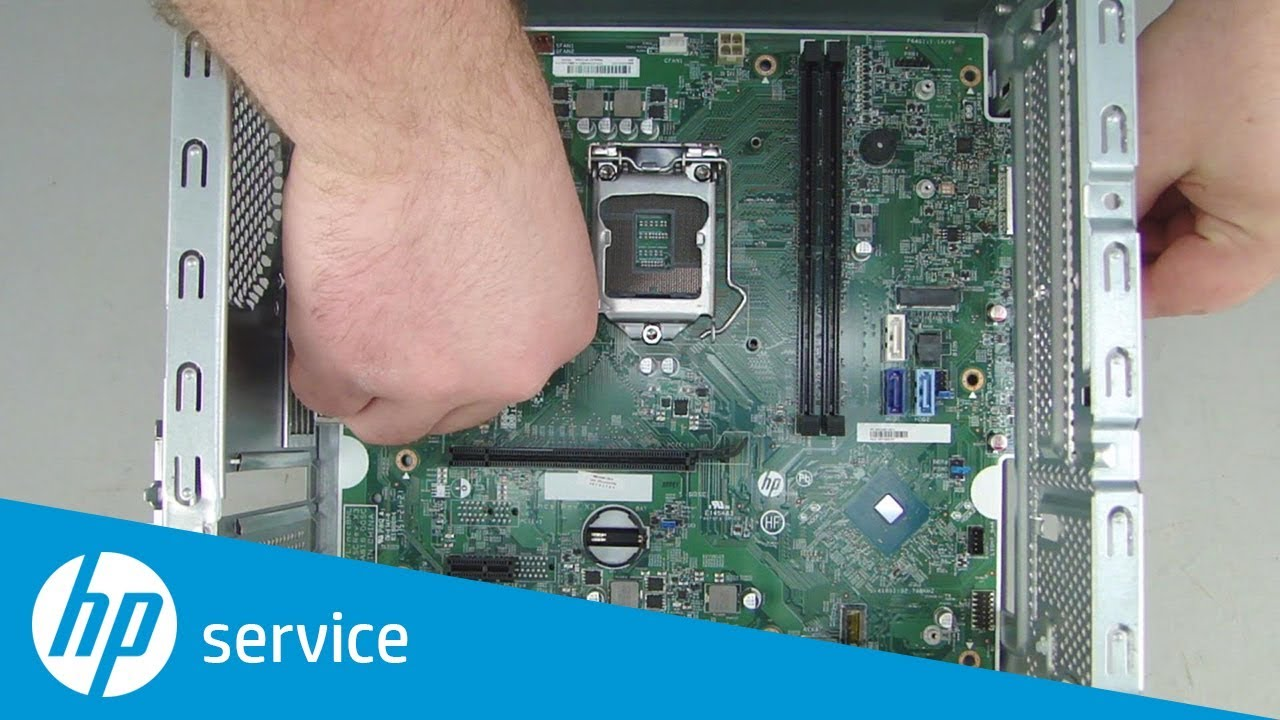 Replace The System Board Hp Pavilion Gaming 690 0xx Desktop Pc Hp Youtube