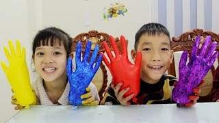 Kids Go To School Learn Colors with Draw Glove The Finger Family Song