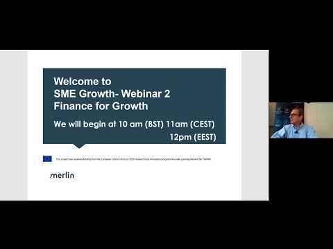 MERLIN ICT Webinar: Finance for Growth (II) - David Gill - St Johns Innovation Centre