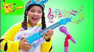 Johny Plays with Disney Frozen Toy Guitar and Starts a Band 2018 New HD  Part 513