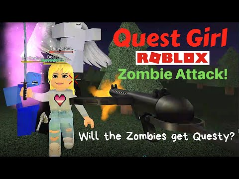 Quest Girl Roblox Zombie Attack - roblox zombies youtube