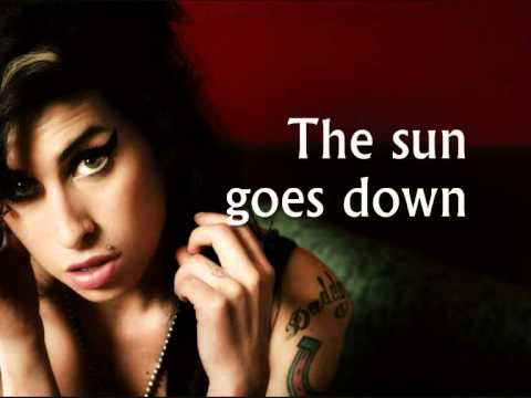 Amy Winehouse - Tears Dry On Their Own (Lyrics)