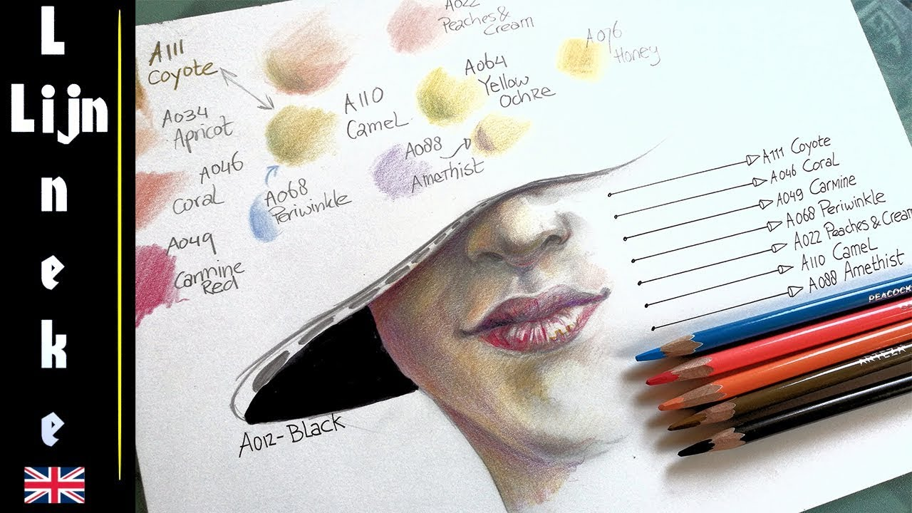 Easy skin tone for beginners pencil drawing