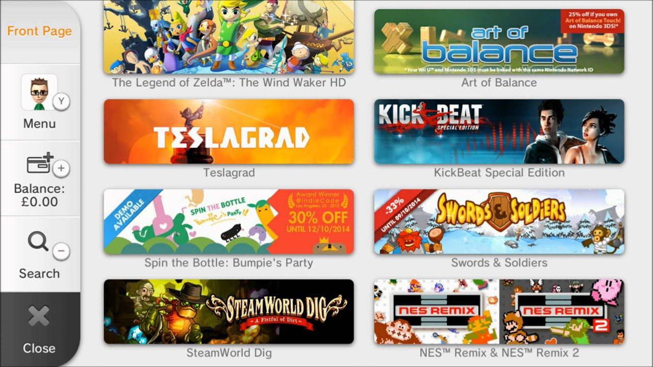 Nintendo wii u eshop update super smash bros hyrule warriors virtual console youtube