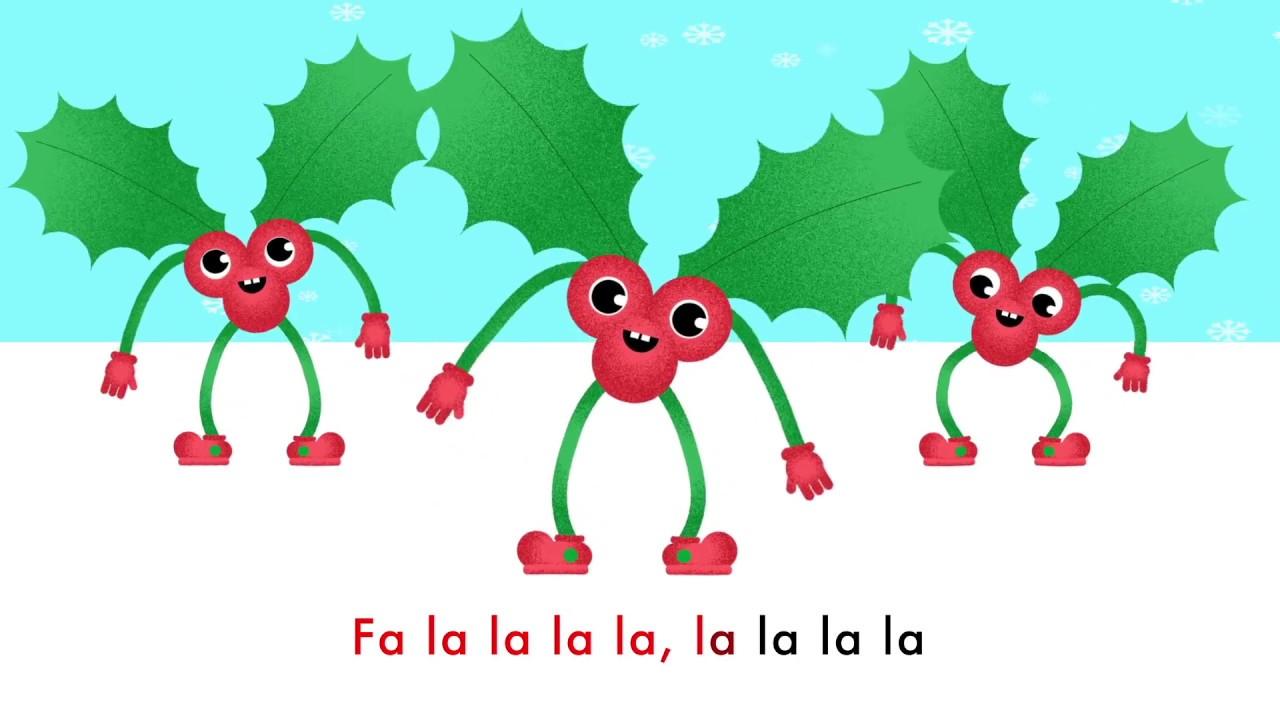 Deck The Halls - Christmas Song - Fa-la-la-la-la, la-la-la-la - Lyrics 🎅🎄 - YouTube