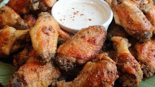 Garlic Parm Hot Wings - Oven-fried Chicken Wings With Spicy Garlic Parmesan Crust Recipe