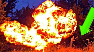 ✅КАРБИД, ВОДА и ОГРОМНЫЕ ШАРЫ голливудский взрыв и много пламени. Эксперименты вместе с MAD SCIENCE