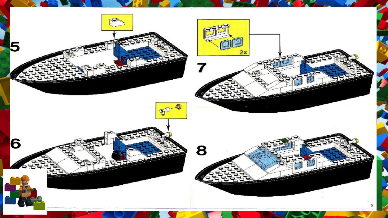 how to make a lego police boat