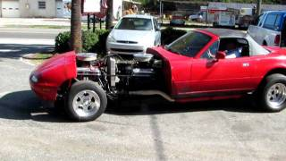 V-16 Twin engine Miata Test drive