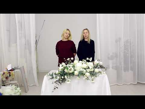 "Мастер-класс ""Композиции из декоративной флористики для стола молодоженов"" (тизер)"