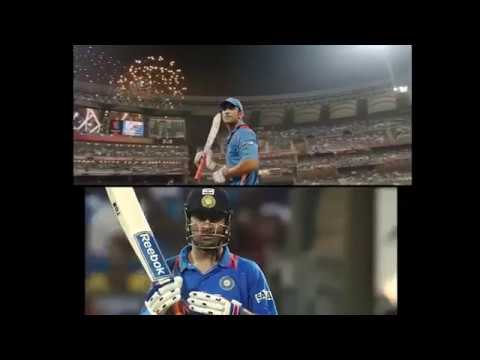 Ms dhoni last scene of both reality and...