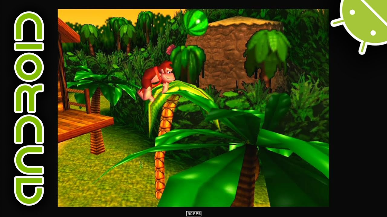 Donkey Kong 64 | NVIDIA SHIELD Android TV (2015) | MegaN64 Emulator [720p]  | Nintendo 64