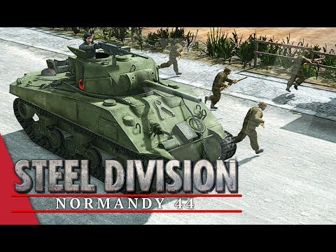 Rolling With The Poles! Steel Division: Normandy 44 Gameplay #27 (Colleville, 2v2)