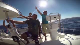 Kitesurf Trip 2014 Catamaran Cyclades Sailing Naxos Flisvos